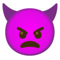 Angry Face with Horns on Google Android 12.0
