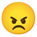 Angry Face on Google Android 12.0
