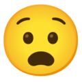 Anguished Face on Google Android 12.0