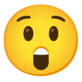 Astonished Face on Google Android 12.0