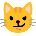 Cat with Wry Smile on Google Android 12.0