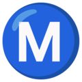 Circled M on Google Android 12.0