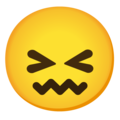 Confounded Face on Google Android 12.0