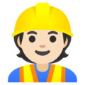Construction Worker: Light Skin Tone on Google Android 12.0