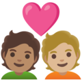 Couple with Heart: Person, Person, Medium Skin Tone, Medium-Light Skin Tone on Google Android 12.0