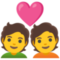 Couple with Heart on Google Android 12.0