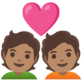 Couple with Heart: Medium Skin Tone on Google Android 12.0