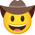 Cowboy Hat Face on Google Android 12.0