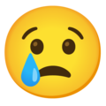 Crying Face on Google Android 12.0