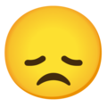 Disappointed Face on Google Android 12.0