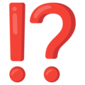 Exclamation Question Mark on Google Android 12.0