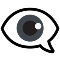 Eye in Speech Bubble on Google Android 12.0