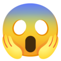 Face Screaming in Fear on Google Android 12.0