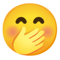 Face with Hand Over Mouth on Google Android 12.0