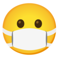 Face with Medical Mask on Google Android 12.0