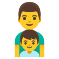 Family: Man, Boy on Google Android 12.0