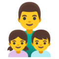 Family: Man, Girl, Boy on Google Android 12.0
