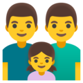 Family: Man, Man, Girl on Google Android 12.0