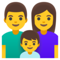 Family: Man, Woman, Boy on Google Android 12.0
