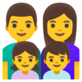 Family: Man, Woman, Girl, Boy on Google Android 12.0