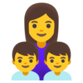 Family: Woman, Boy, Boy on Google Android 12.0