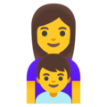 Family: Woman, Boy on Google Android 12.0