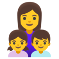 Family: Woman, Girl, Boy on Google Android 12.0
