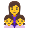 Family: Woman, Girl, Girl on Google Android 12.0