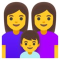 Family: Woman, Woman, Boy on Google Android 12.0