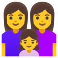 Family: Woman, Woman, Girl on Google Android 12.0