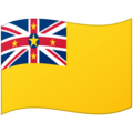 Flag: Niue on Google Android 12.0