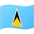 Flag: St. Lucia on Google Android 12.0