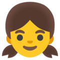 Girl on Google Android 12.0