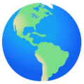 Globe Showing Americas on Google Android 12.0