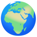 Globe Showing Europe-Africa on Google Android 12.0