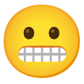 Grimacing Face on Google Android 12.0