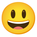 Grinning Face with Big Eyes on Google Android 12.0