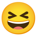 Grinning Squinting Face on Google Android 12.0