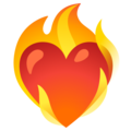Heart on Fire on Google Android 12.0