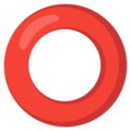 Hollow Red Circle on Google Android 12.0