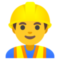 Man Construction Worker on Google Android 12.0