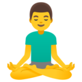 Man in Lotus Position on Google Android 12.0