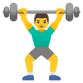 Man Lifting Weights on Google Android 12.0