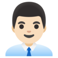 Man Office Worker: Light Skin Tone on Google Android 12.0