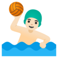 Man Playing Water Polo: Light Skin Tone on Google Android 12.0