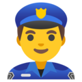 Man Police Officer on Google Android 12.0