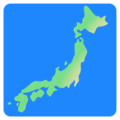 Map of Japan on Google Android 12.0