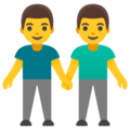 Men Holding Hands on Google Android 12.0
