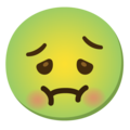 Nauseated Face on Google Android 12.0