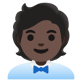 Office Worker: Dark Skin Tone on Google Android 12.0